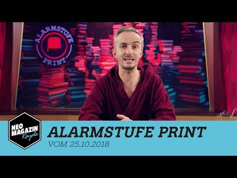 Alarmstufe Print vom 25.10.2018 | NEO MAGAZIN ROYALE mit Jan Böhmermann - ZDFneo