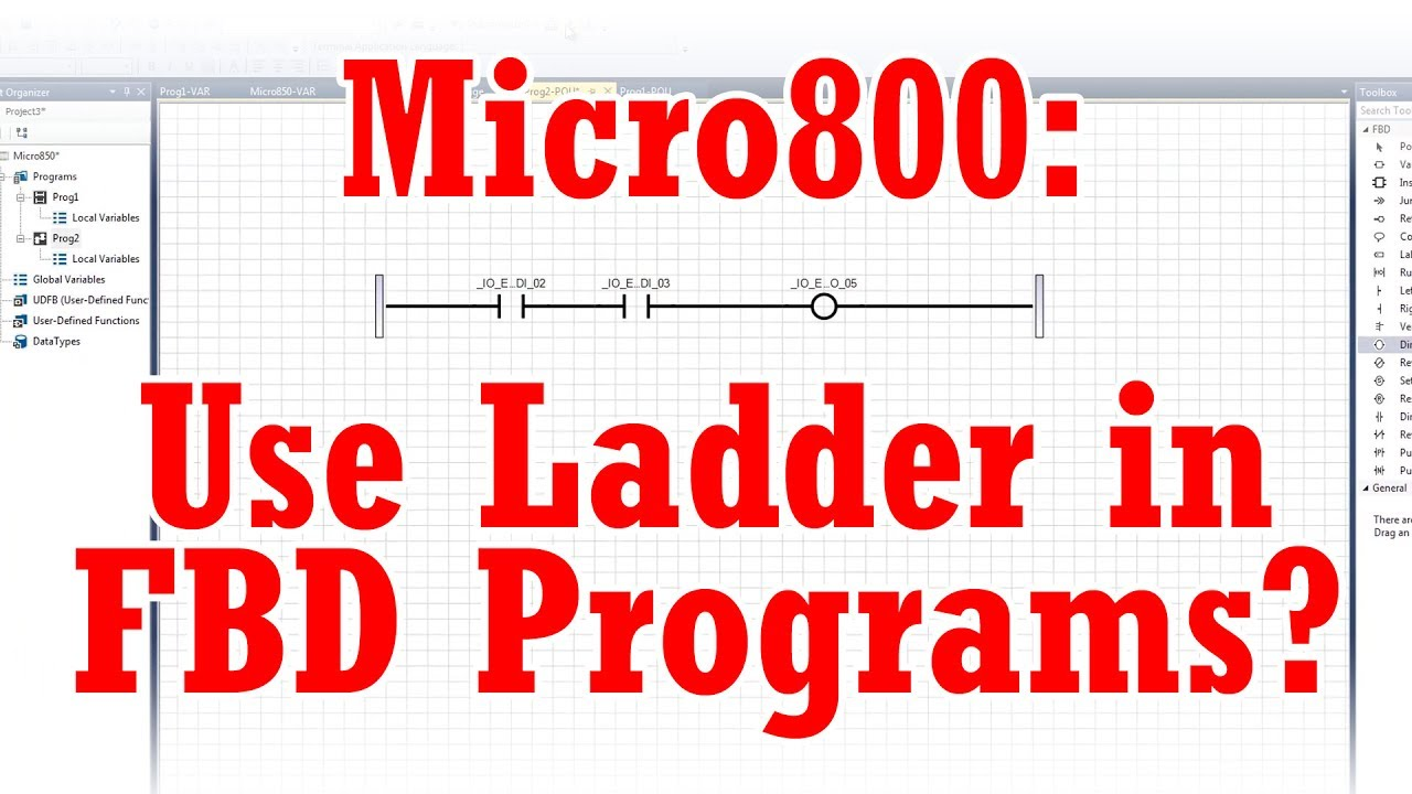 Micro800 ladder logic in function block diagrams youtube micro800 ladder logic in function block diagrams ccuart Image collections