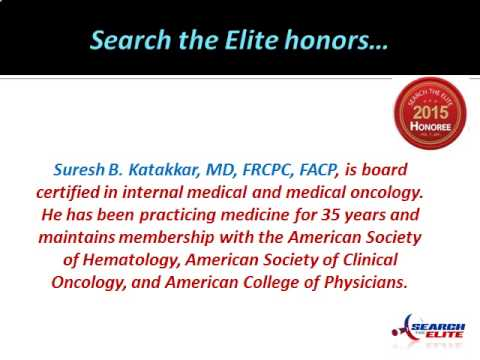 Suresh B. Katakkar, MD, FRCPC, FACP, Named the Top Hematology Doctor in Tucson