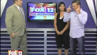 "Gambar cover Pushup Contest on LIVE TV--""Biggest Loser's"" Mandi Kramer on Fox12 with Nate Kuester"