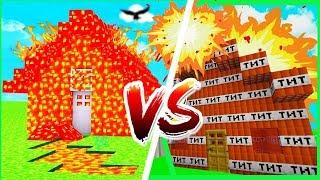 LAVA HUS vs TNT HUS // Dansk Minecraft