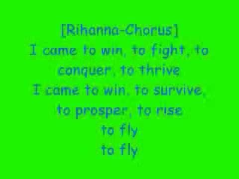 Nick Minaj Ft. Rihanna- Fly (lyrics)