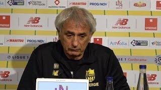 El técnico del Nantes recordó entre lágrimas a Emiliano Sala