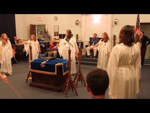 Bethel 24 Hopewell Va Arise Ceremony Job's Daughters