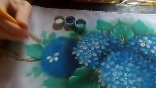 Fábio Marques – Pintando hortênsias – painting hydrangeas