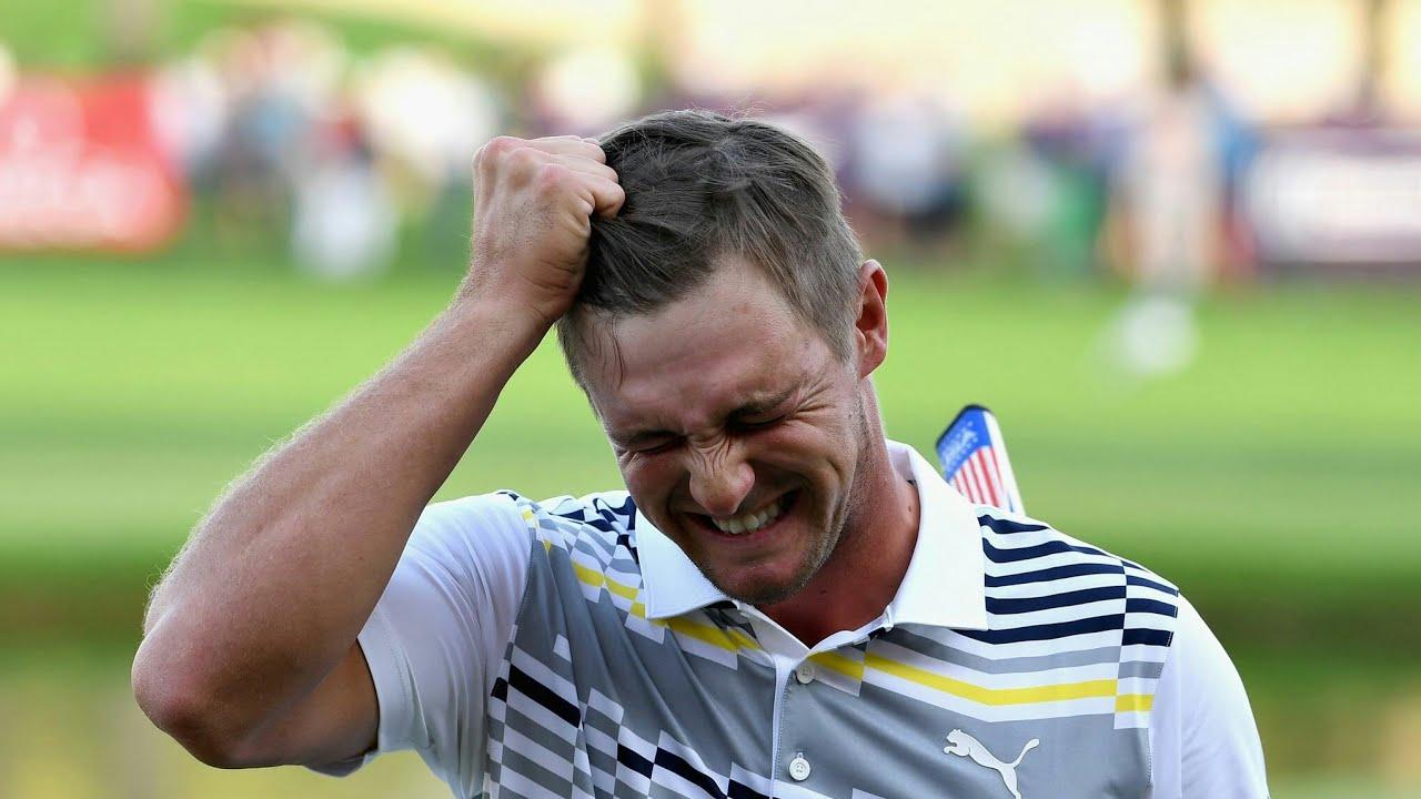 PGA Championship: Bryson DeChambeau snaps driver during ...