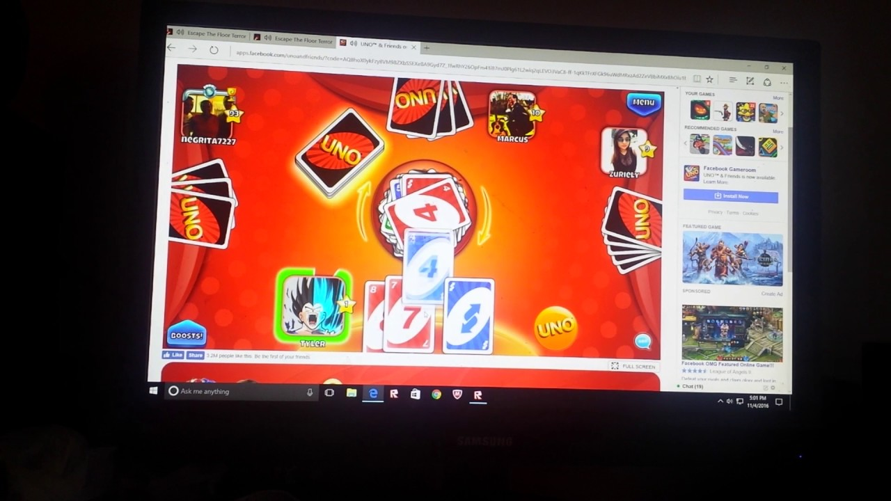 Uno Facebook Gameroom