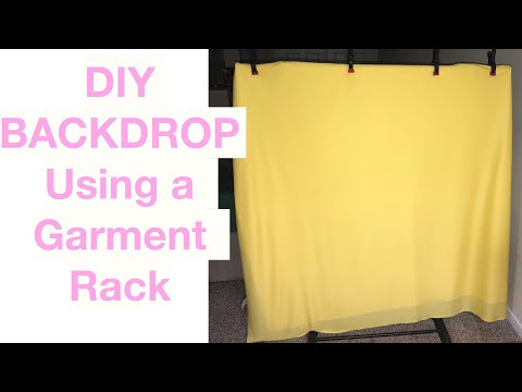 DIY $8 Backdrop Stand |  CHEAP AF | How to make a backdrop stand for CHEAP