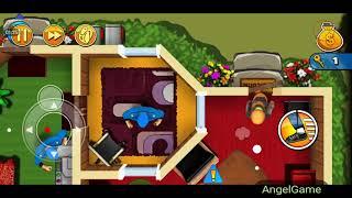 Robbery Bob - Bonus Chapter (Challenge) Level 11 Gameplay Video