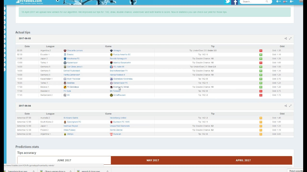 Soccer stats - Fctables How to use this tool