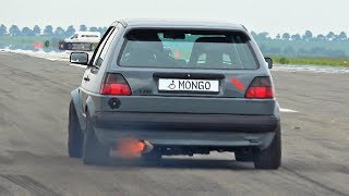 800HP VW Golf MK2 VR6 Turbo Acceleration Sound