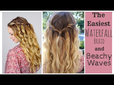 The Easiest Waterfall Braid and Perfect Beach Curls