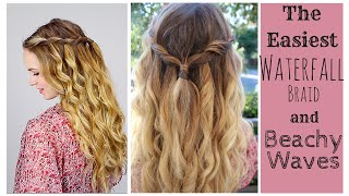 The Easiest Waterfall Braid + Perfect Beach Curls