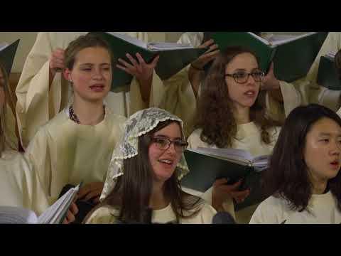 "Notre Dame Women's Liturgical Choir sings Stanton's ""Christ is the World's True Light."""