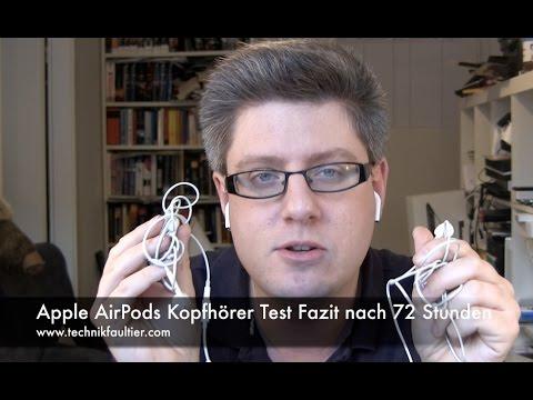 Apple AirPods Kopfhörer Test Fazit nach 72 Stunden