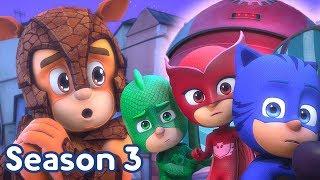 PJ Masks Season 3 NEW Armadylan and Robette Season 3 Episode 3 Clip  Superhero Cartoons for Kids