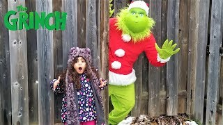Sally pretend Play Hide and seek with the Grinch