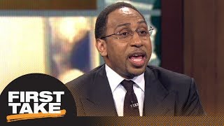 Stephen A. sounds off on Trump's tweets about LeBron James | First Take | ESPN