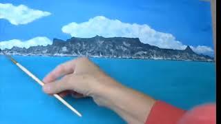 Как нарисовать море 6. Лидия Иванова.  Уроки для начинающих художников
