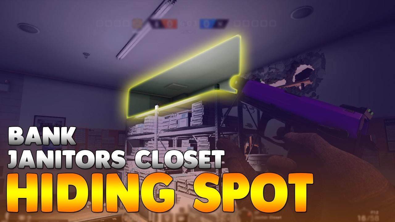 Janitors Closet Hiding Spot! On Bank / Rainbow Six Siege