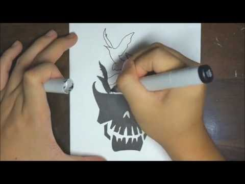 How To Draw Imagine Dragons Logo (Suicide Squad)