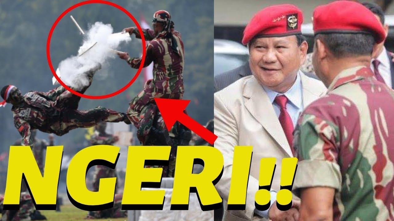 Hadiri HUT Kopassus, Prabowo Did4ul4t Cek K3taj4m4n Sil3t - YouTube