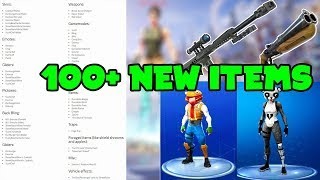 100+ NEW ITEMS LEAKED To Be Coming To Fortnite Season 5... (Skins, Emotes, Weapons & More!!)
