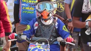 serunya persaingan Dheyo Wahyu di race moto 1 kelas 65 cc kejurnas