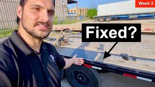 I just cut my axles off my trailer - week 2