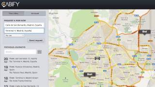 Requesting a Cabify from the Web Interface screenshot 3