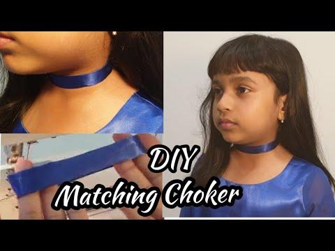 How To Make A Choker|DIY Choker|Matching Choker For The Dress