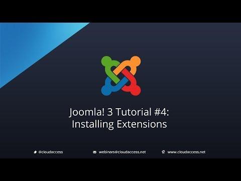 Joomla 3 Tutorial #4: Installing Extension