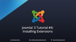 Joomla 3 Tutorial #4: Installing Extension