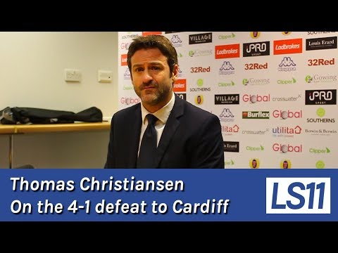 LS11 | Thomas Christiansen following the 4-1 defeat to Cardiff City
