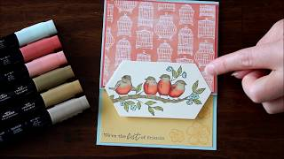 How To Color the Stampin' Up! Free As A Bird Stamp with Stampin' Blends - Laura's Stamp Pad