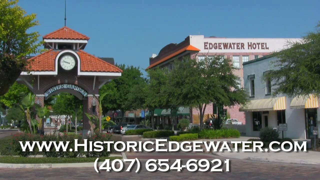 edgewater hotel winter garden. The Historic Edgewater Hotel In Downtown Winter Garden Florida. West Orange Trail Experience - YouTube F