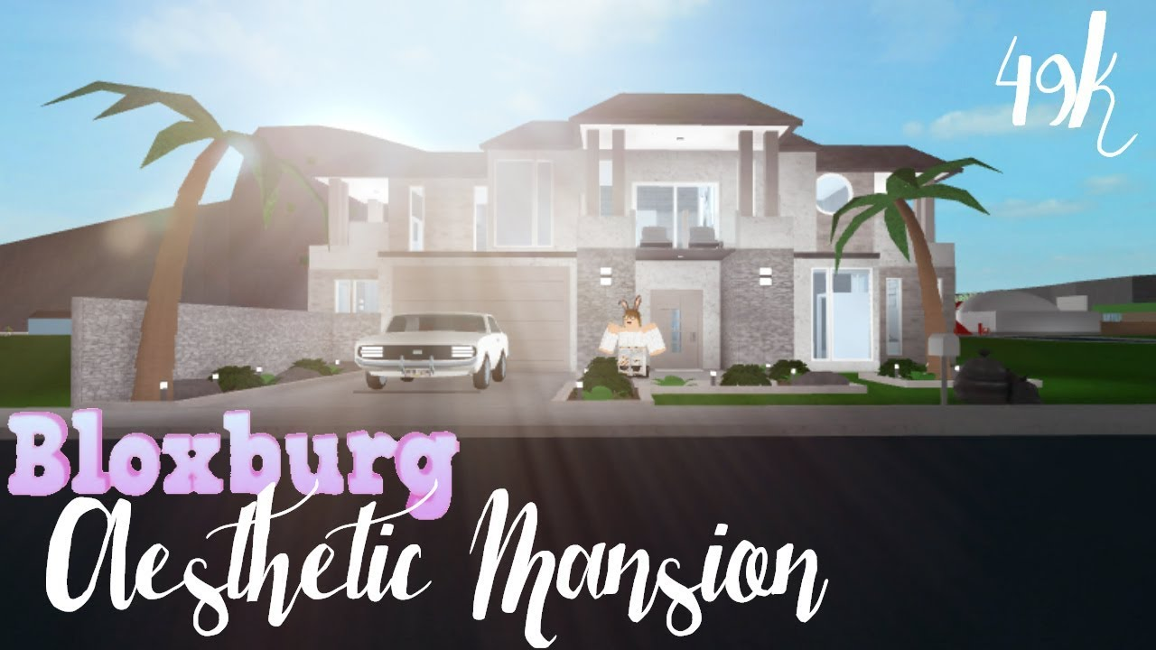 Bloxburg Aesthetic Family Mansion 49k Youtube