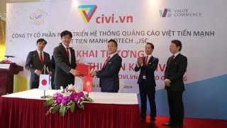 Việt Tiến Mạnh Group và ValueCommerce ký kết hợp đồng civi.vn