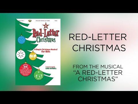 RedLetter Christmas Lyric   A RedLetter Christmas A Simple Christmas Musical for Kids