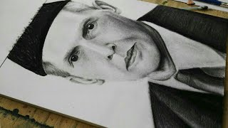 Drawing QUAID e AZAM  MOHAMMAD ALI JINNAH #realistic #charcoal #portrait