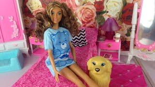 Barbie Videos - Barbie Night Routine - New Barbie puppy - Brown Barbie