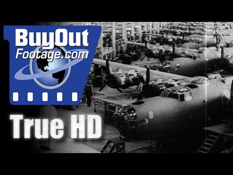 American Industrial Might Mobilizes For War - Historic HD Footage