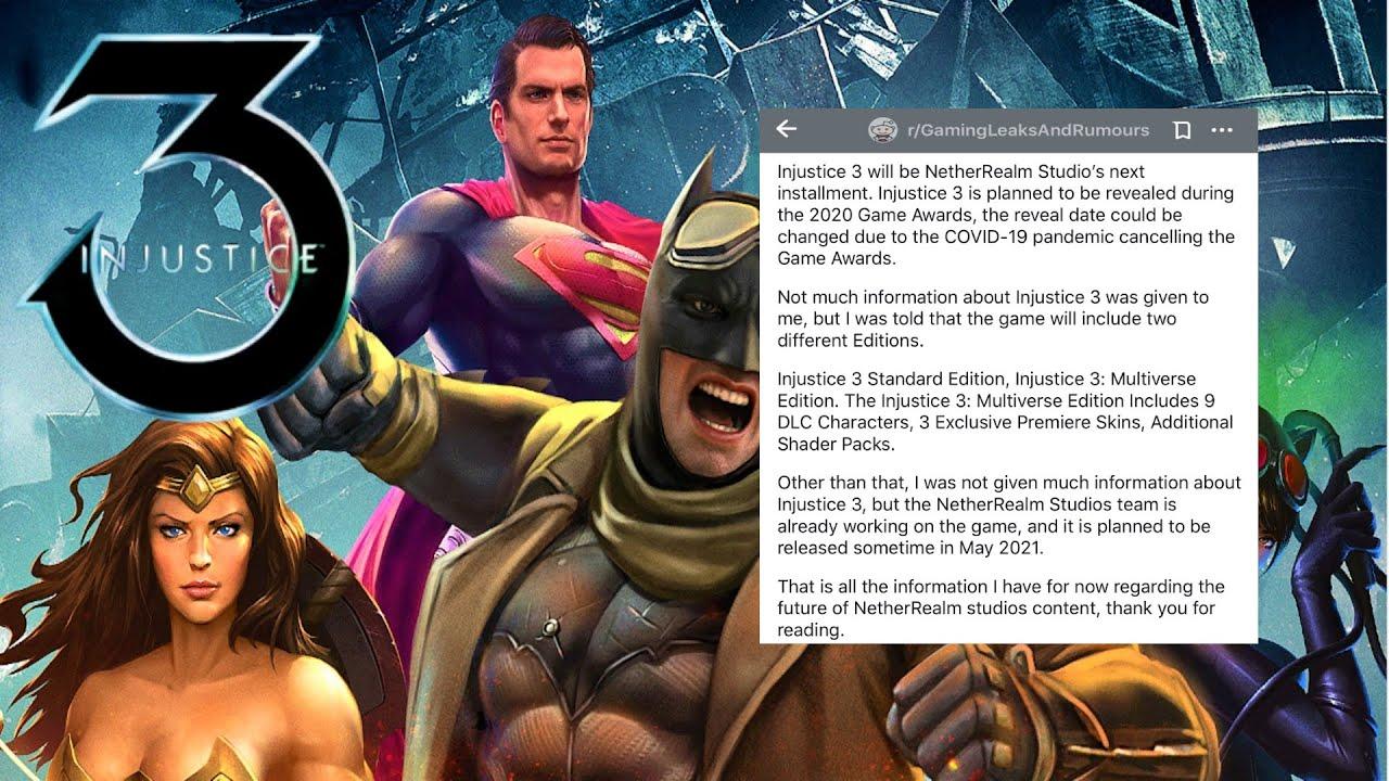 Injustice 3 Reddit Leak Youtube