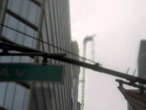 Midtown Manhattan 57th Street Hurricane Sandy 430pm WIND