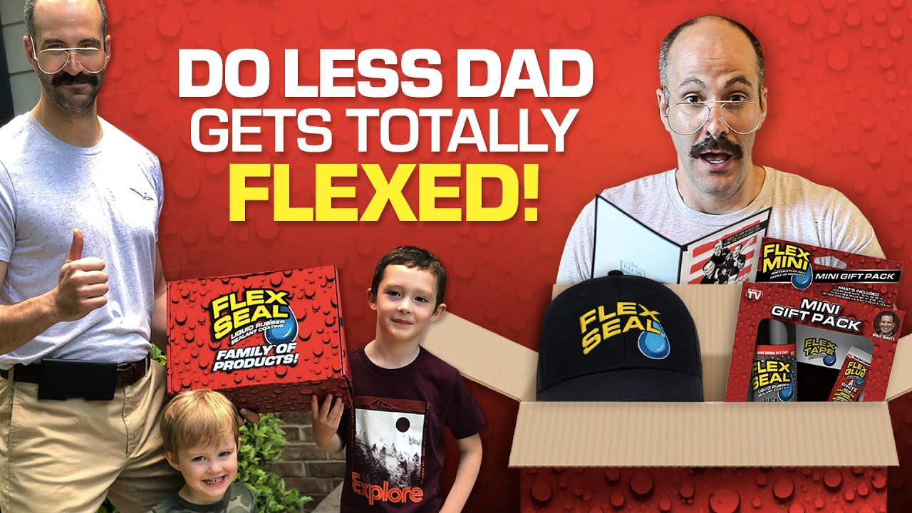 DO LESS DAD GETS TOTALLY FLEXED!