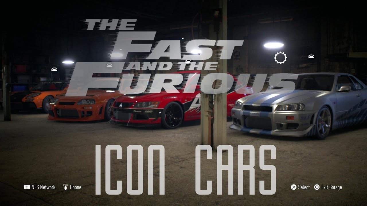 All Fast And Furious Cars >> Fast And Furious - Iconic Cars - NFS 2015 - YouTube