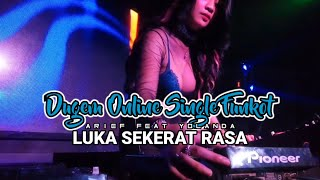 Download DUGEM ONLINE Single Funkot || Luka Sekerat Rasa || Arief feat Yollanda || Cover Fdj Amara Queen