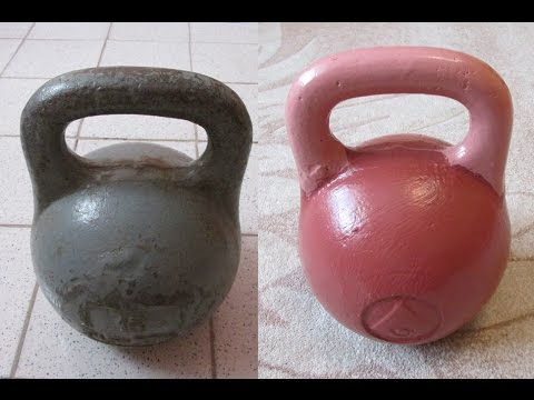 Покраска гири и спортивный инвентарь для домашних тренировок
