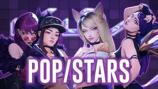 Nightcore - POP/STARS (Switching Vocals) League of Legends || Lyrics