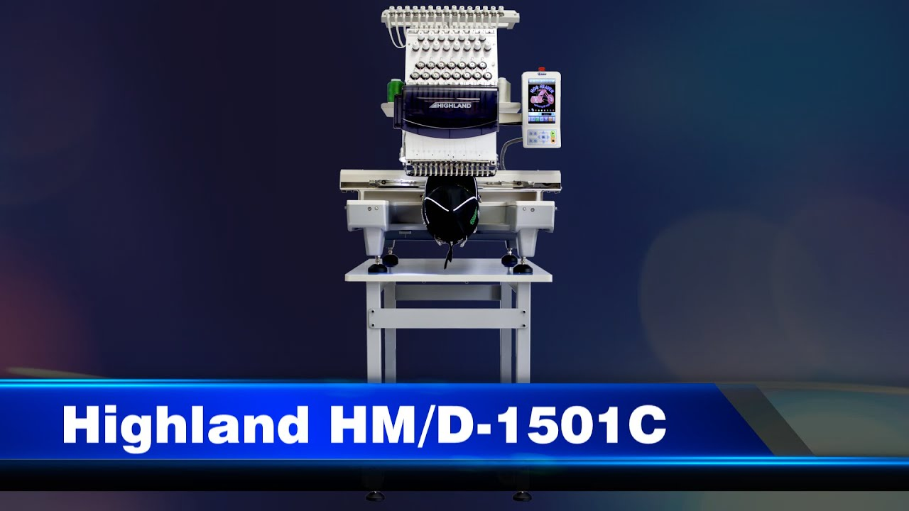 Highland Compact Embroidery Machine Demo Video